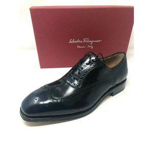 New Salvatore Ferragamo Shoes Blue Black